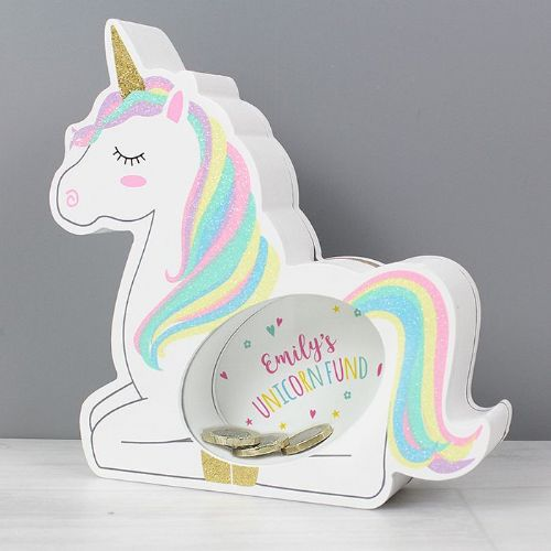 Unicorn Wooden Money Box